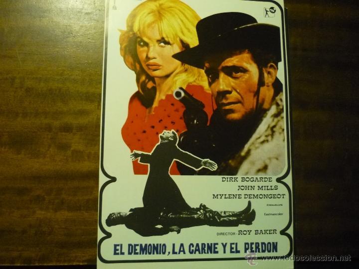 GUIA EL DEMONIO, LA CARNE Y EL PERDON - DIRK BOGARDE (Cine - Guías Publicitarias de Películas )