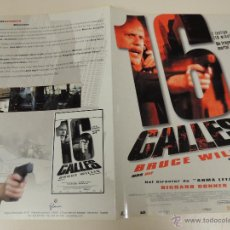 Cine: 16 CALLES - GUIA ORIGINAL - BRUCE WILLIS DAVID MORSE RICHARD DONNER - LOTE 20 GUIAS 30 EUROS. Lote 43266459