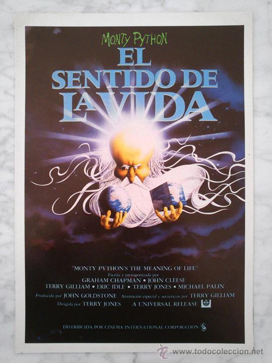 GUÍA PUBLICITARIA - EL SENTIDO DE LA VIDA - MONTY PYTHON - 1983 (DOBLE HOJA) (Cine - Guías Publicitarias de Películas )
