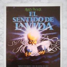 Cine: GUÍA PUBLICITARIA - EL SENTIDO DE LA VIDA - MONTY PYTHON - 1983 (DOBLE HOJA). Lote 43333331
