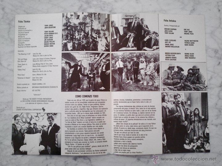 Cine: GUÍA PUBLICITARIA - EL SENTIDO DE LA VIDA - MONTY PYTHON - 1983 (DOBLE HOJA) - Foto 2 - 43333331
