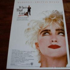 Cine: WHO'S THAT GIRL - ¿QUIEN ES ESA CHICA ? -- MADONNA - GRIFFIN DUNNE. Lote 43419357