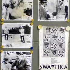 Cine: G5119 SWASTIKA ADOLF HITLER BRAUN GOEBBELS GÖRING HIMMLER COLECCION DOSSIER ORIGINAL + 4 FOTOS. Lote 43420991