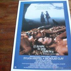 Cine: EL AMANTE DE LADY CHATTERLEY - SYLVIA KRISTEL Y NICHOLAS CLAY. Lote 43425231