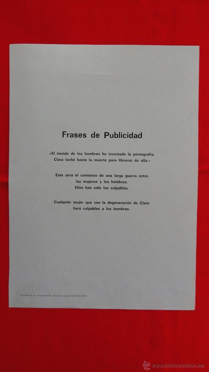 Cine: CLARA ES EL PRECIO, AMPARO MUÑOZ MISS UNIVERSO, GUÍA SENCILLA 1975, EXCTE. ESTADO - Foto 2 - 43597292