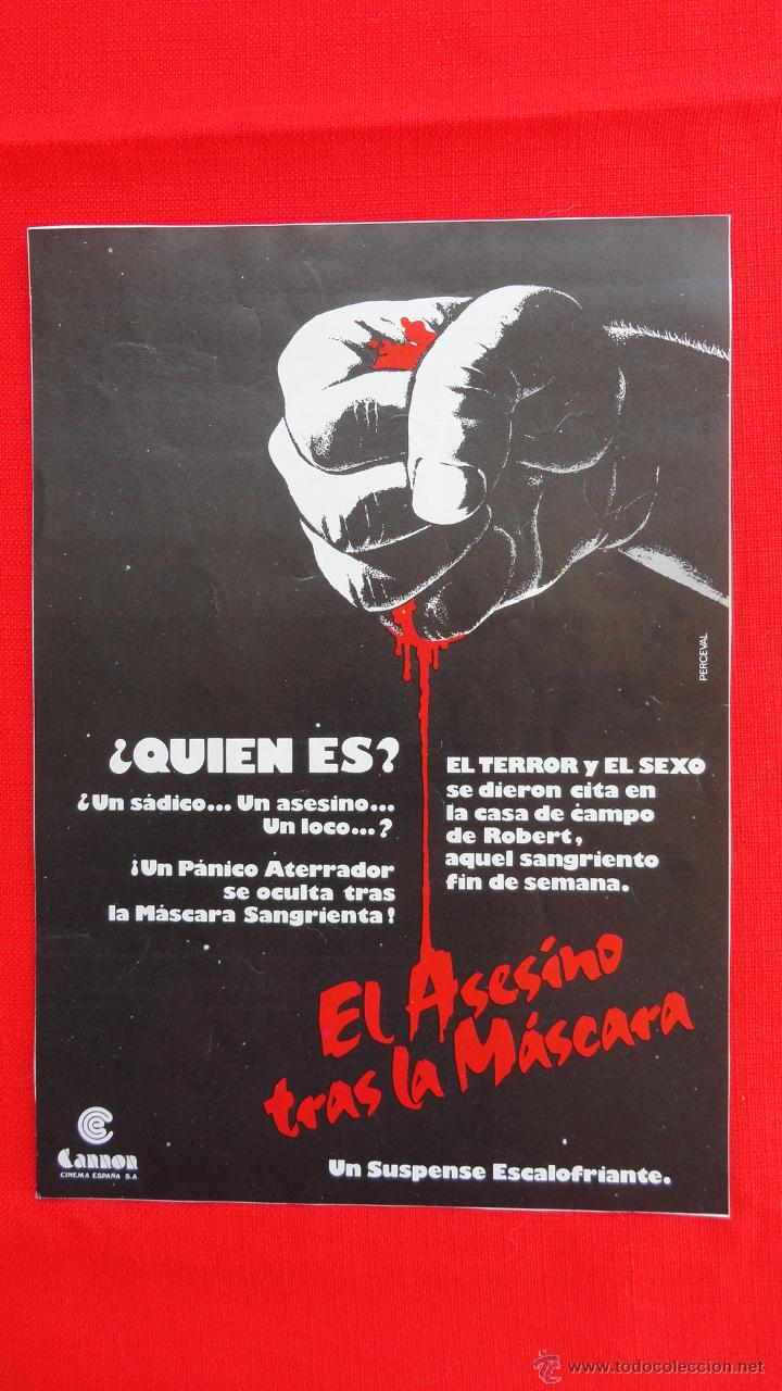 EL ASESINO TRAS LA MASCARA, FICHA TÉCNICA, CRISTOPHER ALLPORT, CANON CINEMA ESPAÑA S.A. (Cine - Guías Publicitarias de Películas )
