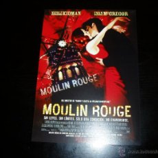 Cine: MOULIN ROUGE. GUIA PUBLICITARIA SENCILLA. ORIGINAL. NUEVO.. Lote 184660256