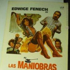 Cine: GUIA DOBLE LAS MANIOBRAS DE LA DOCTORA CON LOS SOLDADOS-EDWIGE FENECH. Lote 44011184