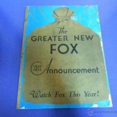 Cine: TWENTY CENTURY FOX: CATALOGO DE PELICULAS 1932-1933-THE GREATER NEW FOX. Lote 44062825