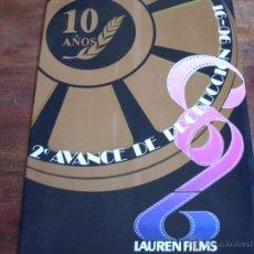 Cine: LISTA DE MATERIAL 2º AVANCE PRODUCCION LAUREN FILMS AÑO 1990/91. Lote 44390739