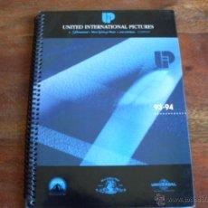 Cine: LISTA DE MATERIAL DE UNITED INTERNATIONAL PICTURES ( UIP ) AMERICANO AÑO 1993/94. Lote 44391668
