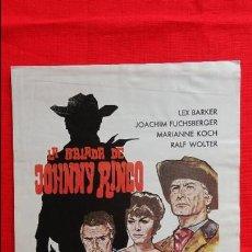 Cine: LA BALADA DE JOHNNY RINGO, GUÍA DOBLE, LEX BARKER JOACHIN FUCHSBERGER, 1967. Lote 44434836