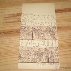 Cine: GUIA PUBLICITARIA DE ROMEO Y JULIETA, CON LESLIE HOWARD Y NORMA SHEARER, DIRECTOR GEORGE CUKOR. 1936. Lote 44439576