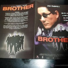 Cine: BROTHER. GUIA PUBLICITARIA DOBLE. ORIGINAL DE LA PELICULA.. Lote 44441969