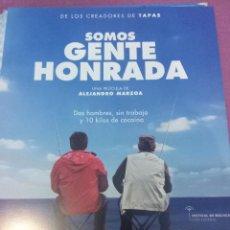 Cine: SOMOS GENTE HONRADA. GUIA PUBLICITARIA.. Lote 44685620