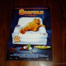 Cine: GARFIELD LA PELÍCULA. GUÍA PUBLICITARIA SENCILLA ORIGINAL DE LA PELÍCULA.. Lote 63473764
