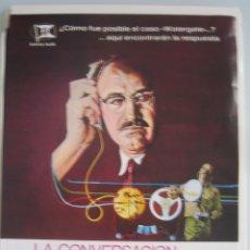 Cine: LA CONVERSACION COPPOLA GENE HACKMAN GUIA PUBLICITARIA ORIGINAL ESTRENO. Lote 44841308