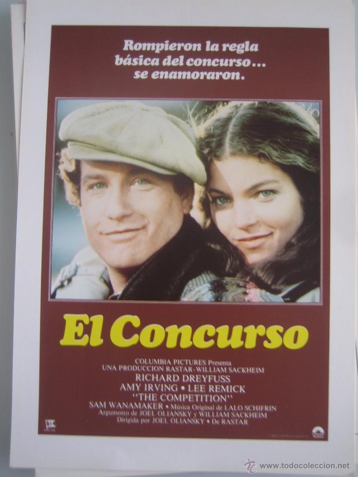 EL CONCURSO RICHARD DREYFUSS AMY IRVING GUIA PUBLICITARIA ORIGINAL ESTRENO (Cine - Guías Publicitarias de Películas )