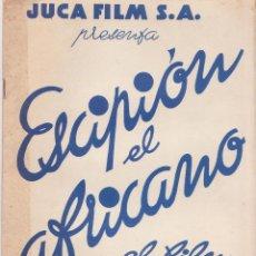 Cine: PROGRAMA PELICULA ESCIPION EL AFRICANO G LIBRO JUCA FILM S.A. ISA MIRANDA FOSCO GIACHETTI 30 X 21,5. Lote 44908160