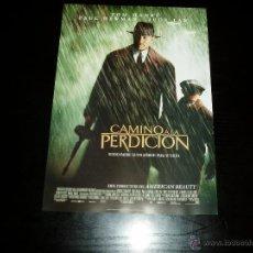 Cinema: CAMINO A LA PERDICION. GUIA PUBLICITARIA SENCILLA. ORIGINAL. NUEVO.. Lote 210701549