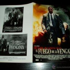 Cine: EL FUEGO DE LA VENGANZA. GUIA PUBLICITARIA DOBLE. ORIGINAL. NUEVO.. Lote 277191793