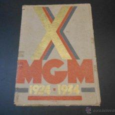 Cine: CATALOGO ORIGINAL METRO GOLDWYN MAYER - CARPETA CON 10 PELICULAS-1924-1934. Lote 45040405