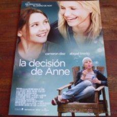 Cine: LA DECISION DE ANNE - CAMERON DIAZ, JASON PATRIC,ABIGAIL BRESLIN,JOAN CUSACK - GUIA ORIGINAL. Lote 45063857