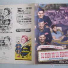 Cine: EL TRIO DE LA BENCINA GUIA PUBLICITARIA ORIGINAL ESTRENO GEORGES GUETARY. Lote 45096897