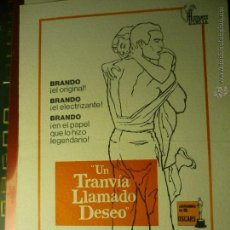 Cine: GUIA DOBLE UN TRANVIA LLAMADO DESEO .-MARLON BRANDO--BB. Lote 45126722
