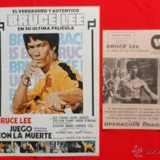 Cine: BRUCE LEE, JUEGO CON LA MUERTE GUÍA SENCILLA Y OPERACIÓN DRAGÓN DOBLE, 1978 Y 1974. Lote 45217485