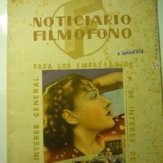 Cine: GUIA NOTICIARIO FILMOFONO .-24 PAG.FOTOS,ESTRENOS, ARGUMENTOS Y FICHAS DE PELICULAS ETC BB. Lote 45406275