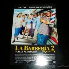 Cine: LA BARBERIA 2. GUIA PUBLICITARIA SENCILLA. ORIGINAL.MAGNIFICO ESTADO.NUEVO.. Lote 143393365