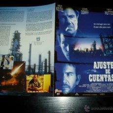 Cine: AJUSTE DE CUENTAS. GUIA PUBLICITARIA DOBLE. ORIGINAL. MAGNIFICO ESTADO.NUEVO.. Lote 143393806