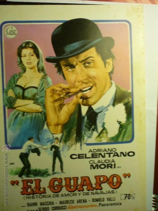 GUIA EL GUAPO .- ADRIANO CELENTANO (Cine - Guías Publicitarias de Películas )