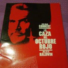 Cine: LA CAZA DEL OCTUBRE ROJO DOSSIER PUBLICITARIO SEAN CONNERY. Lote 45784739