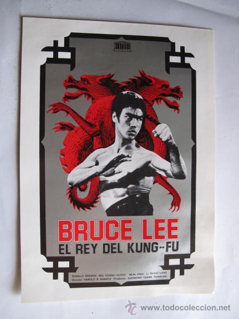 BRUCE LEE EL REY DEL KUNG FU NO ENTRA EN LOTES (Cine - Guías Publicitarias de Películas )