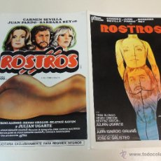 Cine: ROSTROS CARMEN SEVILLA FERNANDO REY - GUIA PUBLICITARIA ORIGINAL ESTRENO. Lote 46154071