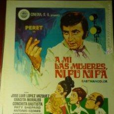 Cine: GUIA DOBLE A MI LAS MUJERES NI FU NI FA,-PERET -J.L.LOPEZ VAZQUEZ. Lote 46181695