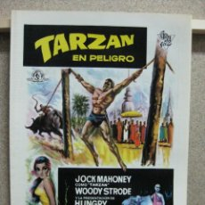 Cine: TARZAN EN PELIGRO, JOCK MAHONEY, WOODY STRODE - GUIA DOBLE. Lote 120394110