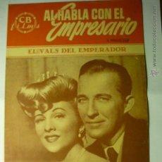 Cine: GUIA EL VALS DEL EMPERADOR.-BING CROSBY- 12 PAG- BB. Lote 46504827