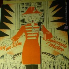 Cine: GUIA DOBLE LISTA MATERIAL AÑO 1944 METRO GOLDWYN MAYER--BB. Lote 46871801
