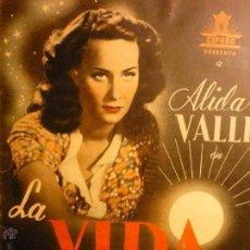 Cine: GUIA 8 PAG. CIFESA LA VIDA VUELVE A EMPEZAR-ALIDA VALLI ---BB. Lote 47016828