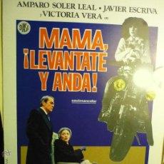 Cine: GUIA DOBLE MAMA LEVANTATE Y ANDA-¡ -AMPARO SOLER LEAL . BB. Lote 47016837