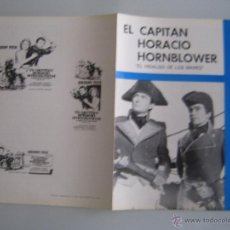 Cine: EL HIDALGO DE LOS MARES GREGORY PECK GUIA PUBLICITARIA ORIGINAL REPOSICION. Lote 47021054