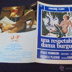 Cine: GUIA PUBLICITARIA DE LA PELICULA UNA RESPETABLE DAMA BURGUESA.. Lote 47145577