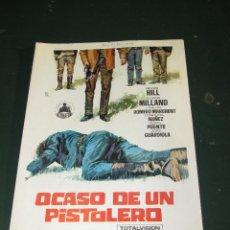 Cine: ANTIGUA GUIA PUBLICITARIA DOBLE DE LA PELICULA * OCASO DE UN PISTOLERO * AÑO 1960S... Lote 47159292