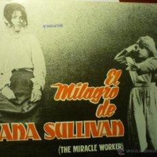 Cine: GUIA 12 PAG.EL MILAGRO DE ANA SULLIVAN .- ANNE BANCROFT --BB. Lote 47193584