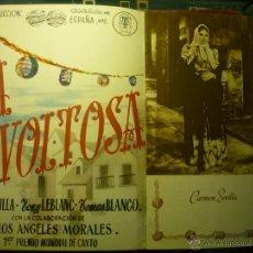 Cine: GUIA LUJO 14 PAG.LA REVOLTOSA- TONY LEBLANC -CARMEN SEVILLA - BB. Lote 47194311