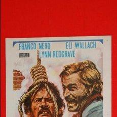 Cine: VIVA LA MUERTE TUYA, GUIA DOBLE, EXCTE. ESTADO, FRANCO NERO ELI WALLACH LYNN REDGRAVE, 1972. Lote 47307102