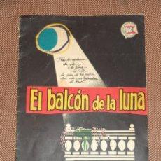 Cine: GUIA DE CINE. PELICULA EL BALCON DE LA LUNA. CARMEN SEVILLA, LOLA FLORES, PAQUITA RICO.. Lote 47320321